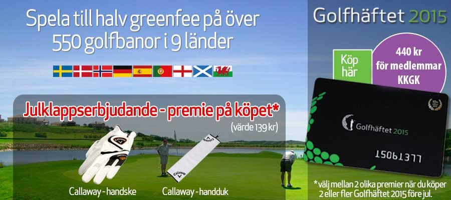 Golfhäftet 2015 presentkort