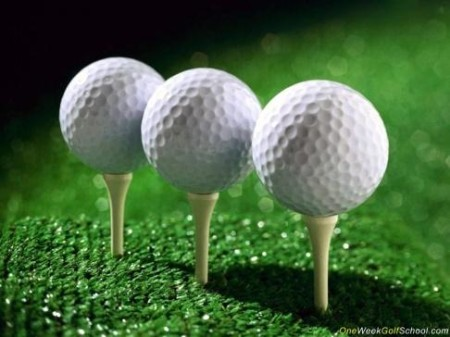 Peggade golfbollar