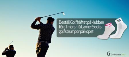 Köp golfhäftet innan 1 mars och du får ett par golfstrumpor från Lanner. Kungälv kode golfklubb