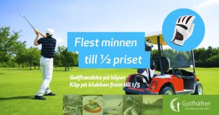 Golfhäftet 440 kr för medlemmar! Inklusive golfhandske!